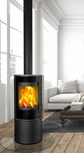 Fireplace Poêle à bois LAURUS verre K6261